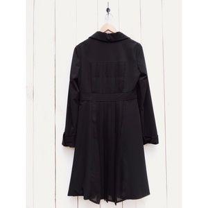 Arden B Jackets & Coats - Arden B. Long Black Pleated Jacket Coat Medium